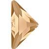 Swarovski 2740 Triangle Gamma Flat Back Crystal Golden Shadow 10x10mm