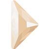 Swarovski 2740 Triangle Gamma Flat Back Crystal Ivory Cream 8.3x8.3mm
