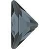 Swarovski 2740 Triangle Gamma Flat Back Crystal Silver Night 10x10mm