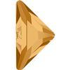 Swarovski 2740 Triangle Gamma Flat Back Light Colorado Topaz 10x10mm