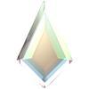 Swarovski 2771 Kite Flat Back Crystal AB 6.4x4.2mm