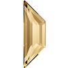 Swarovski 2772 Trapeze Flat Back Crystal Golden Shadow 12.9x4.2mm