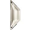 Swarovski 2772 Trapeze Flat Back Crystal Silver Shade 12.9x4.2mm