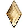 Swarovski 2773 Diamond Shape Flat Back Crystal Golden Shadow 5x3mm