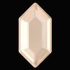 Swarovski 2776 Elongated Hexagon Hotfix Crystal Ivory Cream DeLite 11x5.6mm
