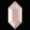 Swarovski 2776 Elongated Hexagon Hotfix Crystal Dusty Pink DeLite 11x5.6mm