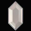 Swarovski 2776 Elongated Hexagon Hotfix Crystal Serene Gray DeLite 16.5x8.4mm