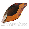 Swarovski 2797 Leaf Flat Back Crystal Copper 10x5mm