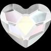 Swarovski 2808 Heart Crystal AB 3.6mm