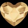 Swarovski 2808 Heart Crystal Golden Shadow 3.6mm
