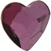 Swarovski 2808 Heart Flat Back Crystal Antique Pink 14mm