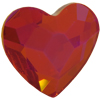 Swarovski 2808 Heart Hotfix Crystal Astral Pink 14mm