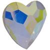 Swarovski 2808 Heart Flat Back Crystal AB 10mm