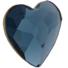 Swarovski 2808 Heart Flat Back Denim Blue 6mm