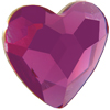 Swarovski 2808 Heart Flat Back Fuchsia 6mm