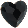 Swarovski 2808 Heart Flat Back Jet 10mm