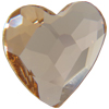 Swarovski 2808 Heart Flat Back Light Silk 6mm
