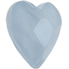 Swarovski 2808 Heart Flat Back Crystal Powder Blue 6mm