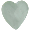 Swarovski 2808 Heart Flat Back Crystal Powder Green 14mm