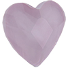 Swarovski 2808 Heart Flat Back Crystal Powder Rose 14mm