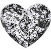 Swarovski 2808 Heart Flat Back Crystal Black Patina 10mm