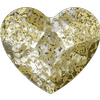 Swarovski 2808 Heart Flat Back Crystal Gold Patina 10mm