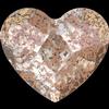 Swarovski 2808 Heart Flat Back Crystal Rose Patina 10mm