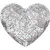 Swarovski 2808 Heart Flat Back Crystal Silver Patina 10mm