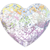 Swarovski 2808 Heart Flat Back Crystal White Patina 10mm