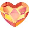 Swarovski 2808 Heart Hotfix Crystal Astral Pink 10mm
