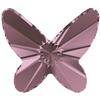 Swarovski 2854 Butterfly Flat Back Crystal Antique Pink 8mm