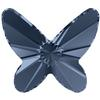 Swarovski 2854 Butterfly Flat Back Denim Blue 8mm