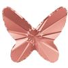 Swarovski 2854 Butterfly Flat Back Rose Peach 8mm
