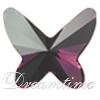 Swarovski 2854 Butterfly Flat Back Amethyst 18mm