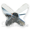 Swarovski 2854 Butterfly Flat Back Crystal 12mm