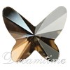 Swarovski 2854 Butterfly Flat Back Crystal Golden Shadow 12mm