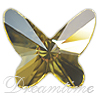 Swarovski 2854 Butterfly Flat Back Jonquil 12mm