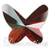 Swarovski 2854 Butterfly Flat Back Crystal Red Magma 12mm