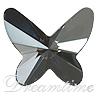 Swarovski 2854 Butterfly Flat Back Crystal Silver Night 12mm