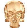 Swarovski 2856 Skull Flat Back Crystal Golden Shadow 10x7.5mm