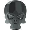Swarovski 2856 Skull Flat Back Jet Hematite 10x7.5mm