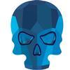 Swarovski 2856 Skull Flat Back Crystal Metallic Blue 10x7.5mm