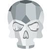 Swarovski 2856 Skull Flat Back Crystal Light Chrome 10x7.5mm