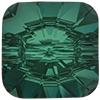 Swarovski 3009 Rivoli Square Button Emerald Foiled 12mm