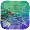 Swarovski 3009 Rivoli Square Button Crystal Paradise Shine Foiled 14mm