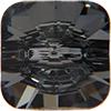 Swarovski 3009 Rivoli Square Button Crystal Silver Night Unfoiled 10mm