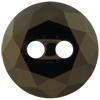 Swarovski 3014 Round Button Jet Nut Unfoiled 12mm