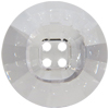 Swarovski 3018 Rivoli Button (4 holes) Crystal Unfoiled 18mm