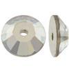 Swarovski 3128 Lochrosen Sew-on Crystal Silver Shade 4mm