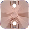 Swarovski 3201 Rivoli Square Sew-on Blush Rose 10mm